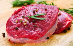 kiêng thịt bò khi nâng mũi